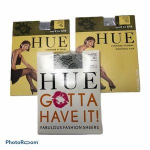 HUE 3 Pair Control Top Pantyhose Bundle Size 1